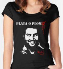 "Pablo Escobar ""Plata o Plomo"" Women's Fitted Scoop T-Shirt"