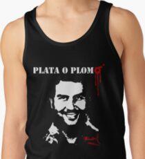 """Pablo Escobar """"Plata o Plomo"""" Tank Top"""