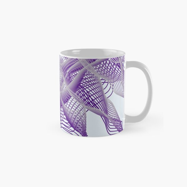 Abstract Violet Spiral Lines Classic Mug