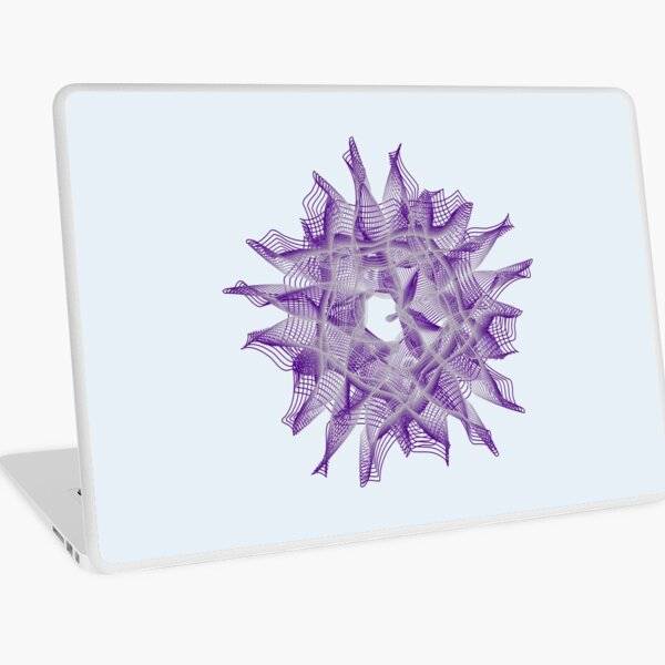 Abstract Violet Spiral Lines Laptop Skin
