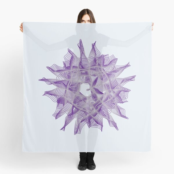 Abstract Violet Spiral Lines Scarf
