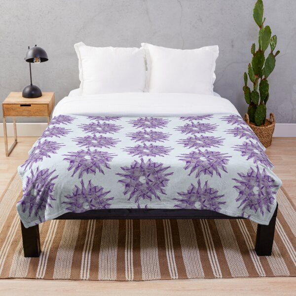 Abstract Violet Spiral Lines Throw Blanket
