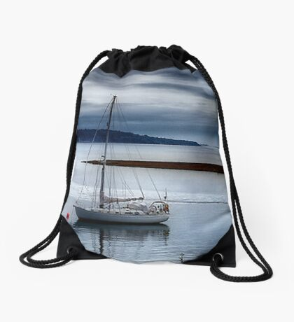 Shimmering Sea Drawstring Bag