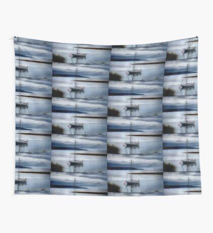Shimmering Sea Wall Tapestry