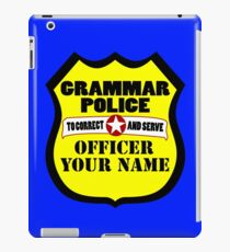 Grammar police customizable geek funny nerd iPad Case/Skin