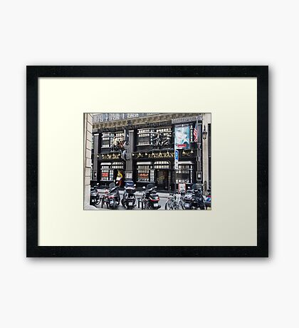 cityscapes #198, The American Dream Framed Print
