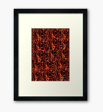 Burn For You Collage Framed Print