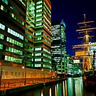 London Tall Ship dock at Canary Wharf, Docklands by DavidGutierrez