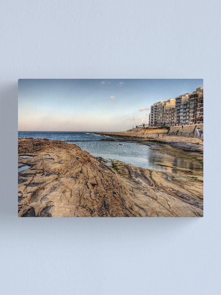 Alternate view of The coast at Sliema - Malta Canvas Print