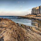 The coast at Sliema - Malta by NeilAlderney