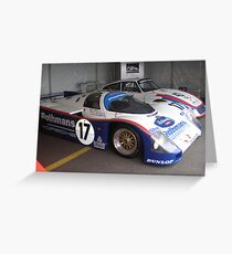 Historic racers Greeting Card
