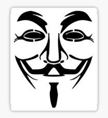 Anonymous Mask Silhouette Sticker