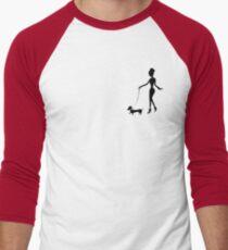 Flaunting The Pooch (blush) - Dachshund Sausage Dog Men's Baseball ¾ T-Shirt