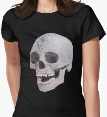 """""""Adelaide's Laughing Skull"""" Clothing Women's Fitted T-Shirt"""