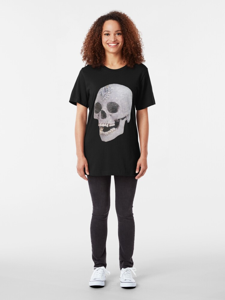 """Alternate view of """"Adelaide's Laughing Skull"""" Clothing Slim Fit T-Shirt"""
