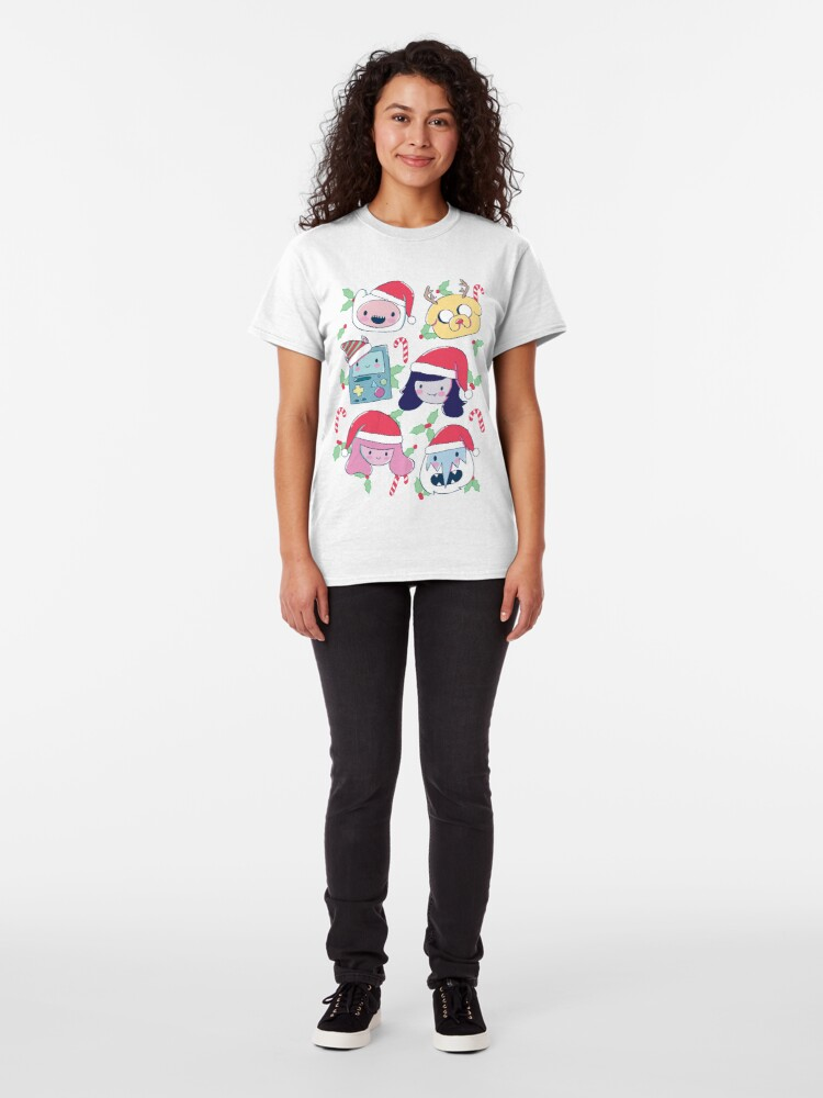 Vista alternativa de Camiseta clásica Christmas Friends (Hora de aventura)