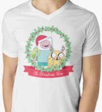 It's Christmas Time! (Adventure Time) V-Neck T-Shirt