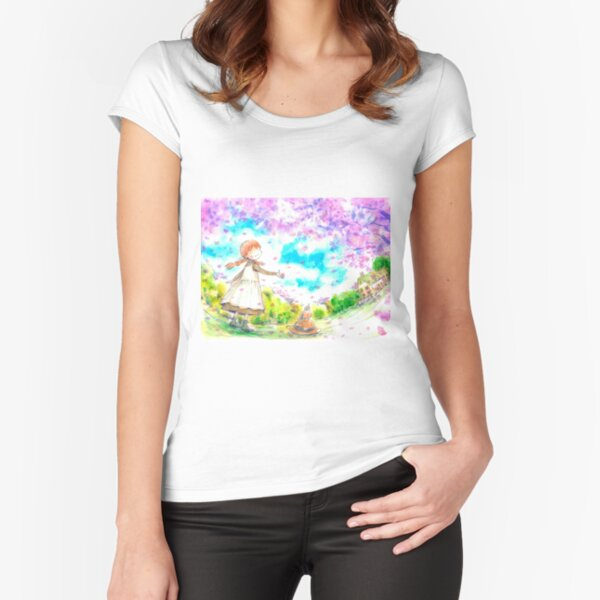 Anne, Spring at Green Gables Fitted Scoop T-Shirt