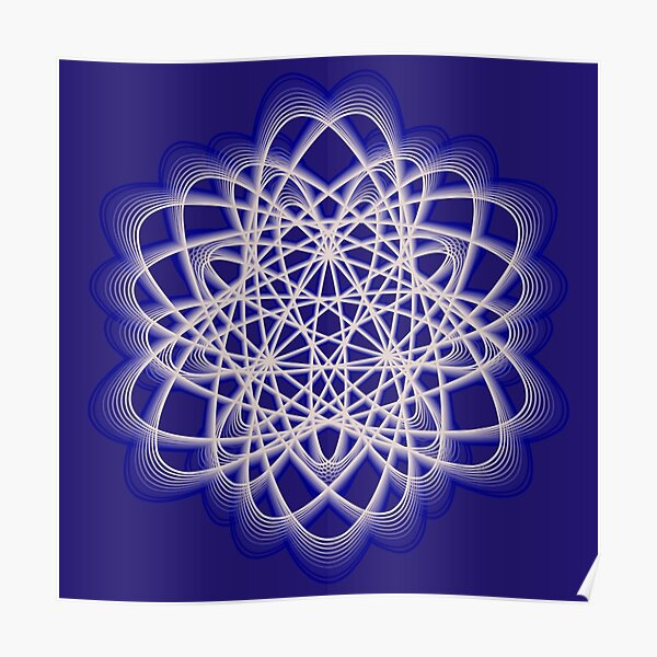 Abstract Dark Blue Violet Atomic Swaps Poster