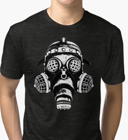Steampunk/Cyberpunk Gas Mask #1A Steampunk T-Shirts Tri-blend T-Shirt