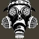 Steampunk/Cyberpunk Gas Mask #1A Steampunk T-Shirts by Steve Crompton