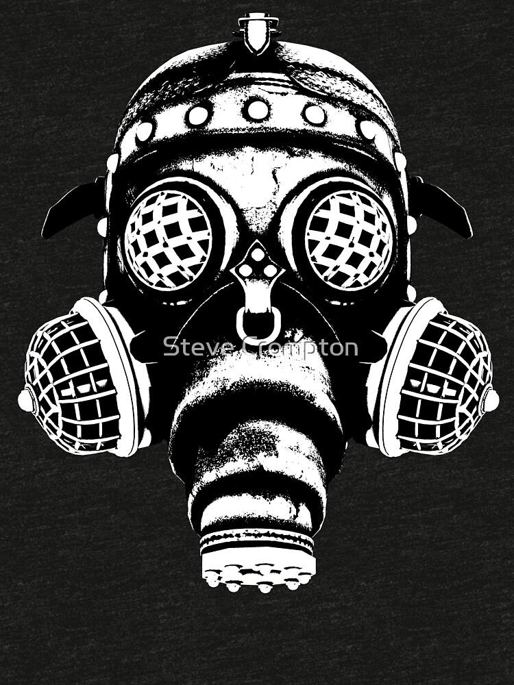 Steampunk/Cyberpunk Gas Mask #1A Steampunk T-Shirts by SC001