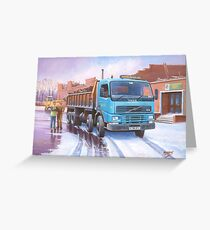 Volvo tipper Greeting Card