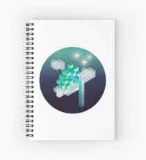 An isometric night Spiral Notebook