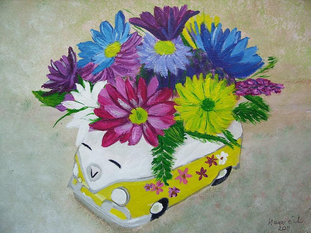 Flower Bus/still life by maggie326