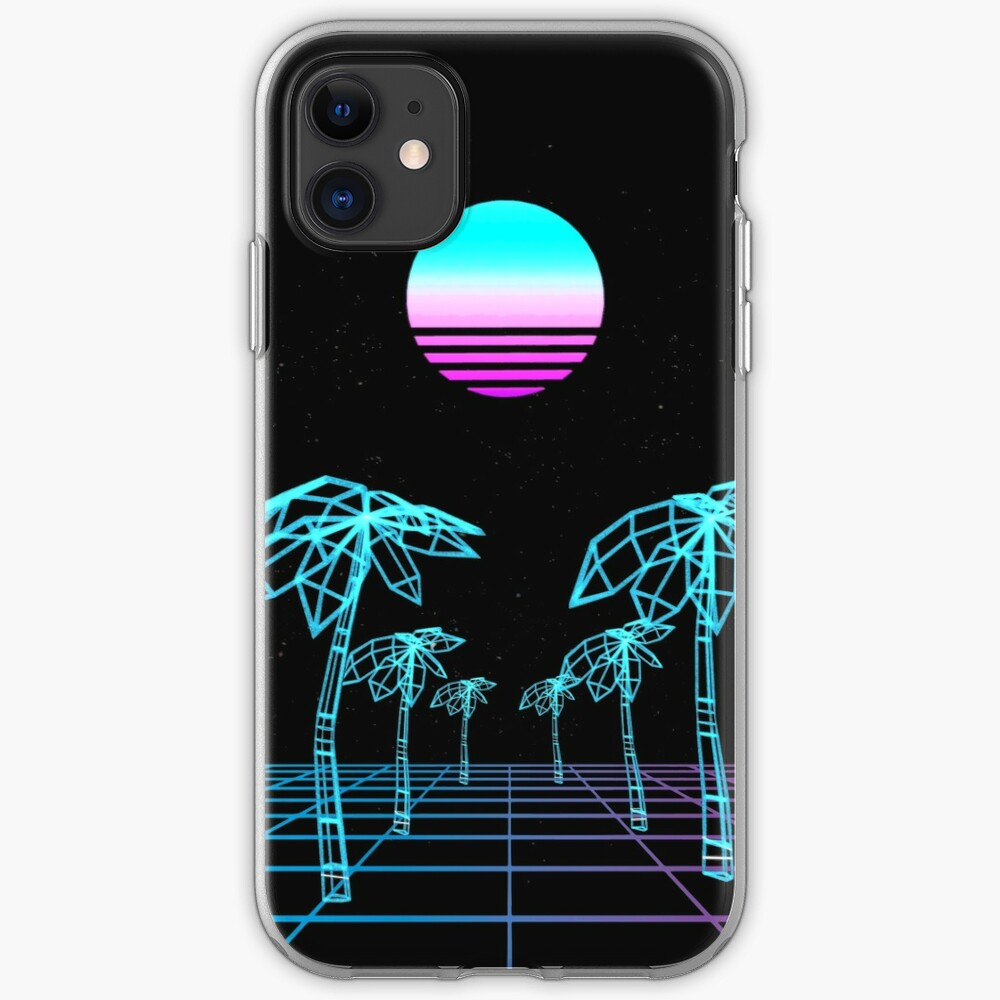 Vapor Wave Paradise  iPhone Soft Case