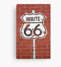Route 66 Shield Canvas Print