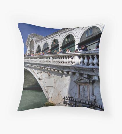 Rialto Bridge - Venice Throw Pillow
