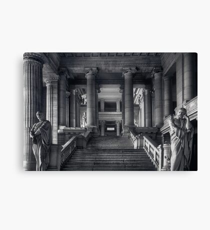 Straight Justice in Brussels Canvas Print