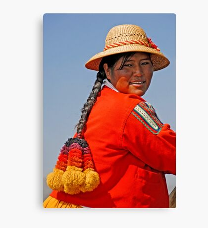 Uros woman Canvas Print