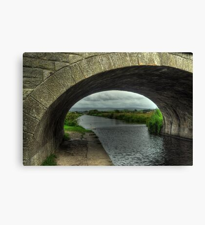 Bridge over The Lancaster Canal At Glasson Canvas Print