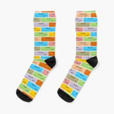 Gift for Anaesthetist Drug Label Pattern Socks
