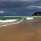 Burleigh Head Aproaching Storm Over the Ocean by Virginia McGowan