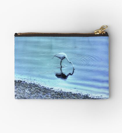 Egret in HDR Studio Pouch