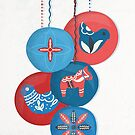 Christmas Baubles (Scandi) by Sybille Sterk