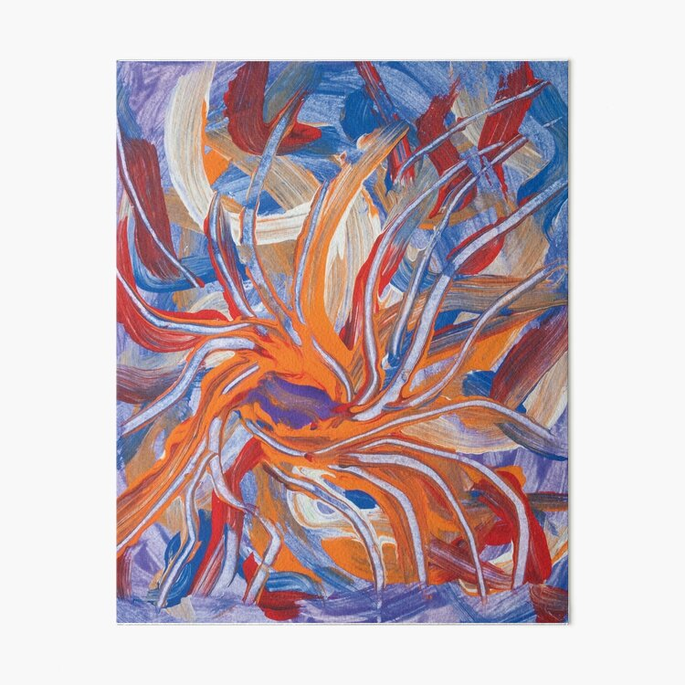 confluence shape abstraction Art Board Print