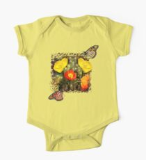 Yellow and Red Poppies One Piece - Short Sleeve