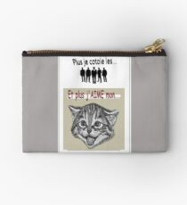 And the more I LOVE my cat ... Zipper Pouch