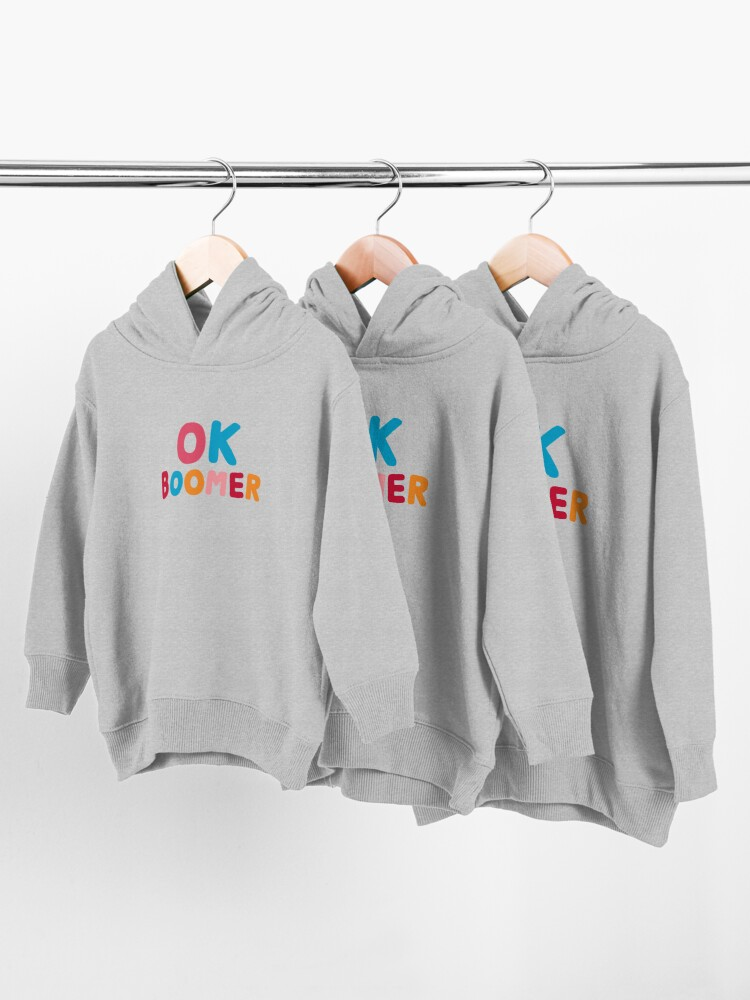 Alternate view of Ok boomer Toddler Pullover Hoodie
