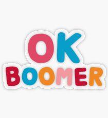 Ok boomer Transparent Sticker