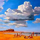 Nobby's Beach by Guntis Jansons