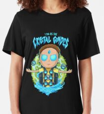 Morty I Do As The Crystal Guides Slim Fit T-Shirt