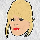 Absolutely Fabulous Ab Fab Patsy Stone Christmas Card by gregs-celeb-art