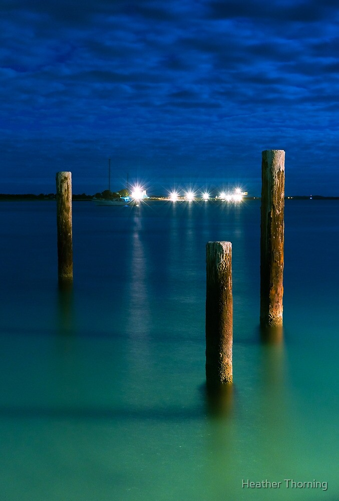 """""""Woodman Point Pylons"""" by Heather Thorning"""