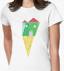 paper world  Womens Fitted T-Shirt