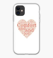 Christmas Gift - Comfort and Joy in Red and White - Holiday Decor - Clothing  iPhone Case